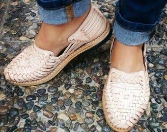 Mexican Huaraches - Natural Braided - Huaraches Sandals - For Her