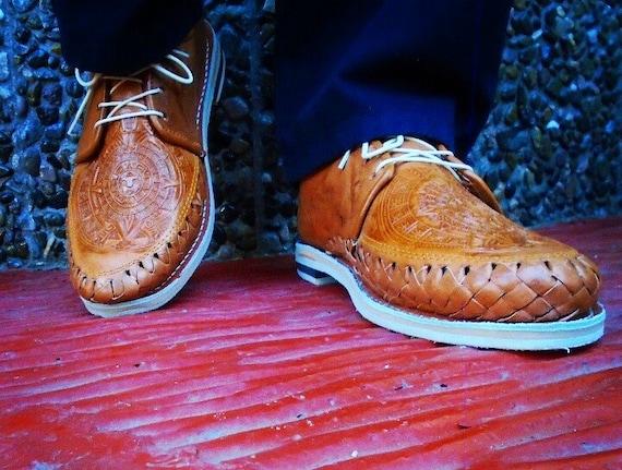 Aztec Calendar - Men Shoes - Mexican Huaraches