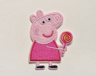 Iron on patch Peppa Pig application badge Embroided Patches