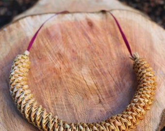 Wheat spiral necklace