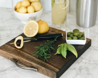 Monona Style Serving Platter/Cutting Board Handcrafted in Black Walnut Urban Wood with handle.  Free Shipping!