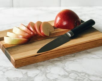 6x10 Mendota Style Handcrafted Cutting Board/Serving Platter made from urban rescued Walnut, Cherry and Maple from WI.  Free Shipping!