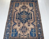 6.46ft x 4.26ft Rare antique Caucasian rug over 100-120 years old 656