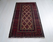 5.77ft x 3.18ft Excellent hand knotted tribal Afghan antique worn rug, boho handmade faded brown vintage low pile small wool carpet 1444