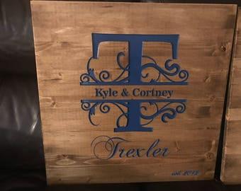 Wedding signature board!