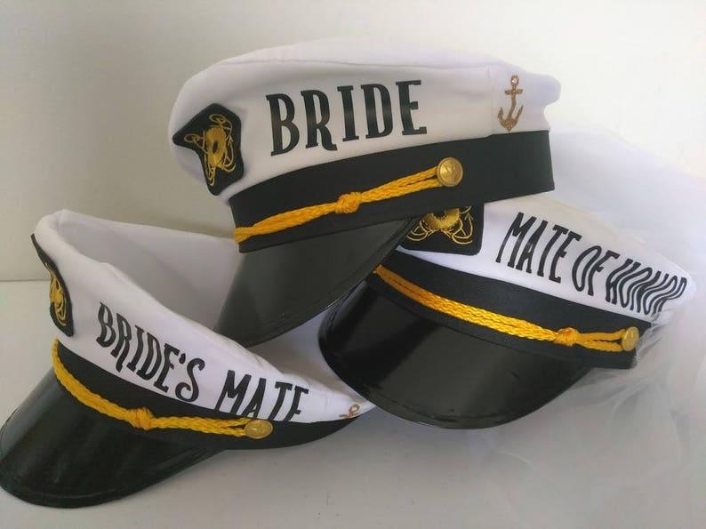 eae3cfc2e96 Personalized Captain hat bride hat bridal party hat