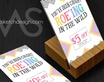 Caught Roe'ing in the Wild Card Design Set- Ten Percent five dollars discount Roeing wild  Information Consultant personalized Arrow
