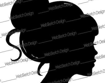 Girl Silhouette Clip Art Image