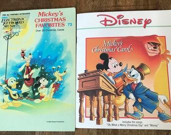 Set Of 2 Walt Disney Christmas Books HTF