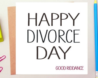 Funny Greeting Card Separated Happy Divorce Card Humour Loved Lost DH