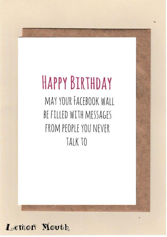 Funny Birthday CARD Best Mate Joke Banter Friend MOIST Girl female woman wife