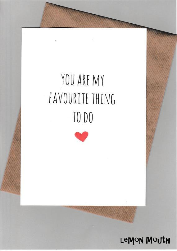 Humour VALENTINE/'S DAY Funny Anniversary Card Except Snore Banter //Fun