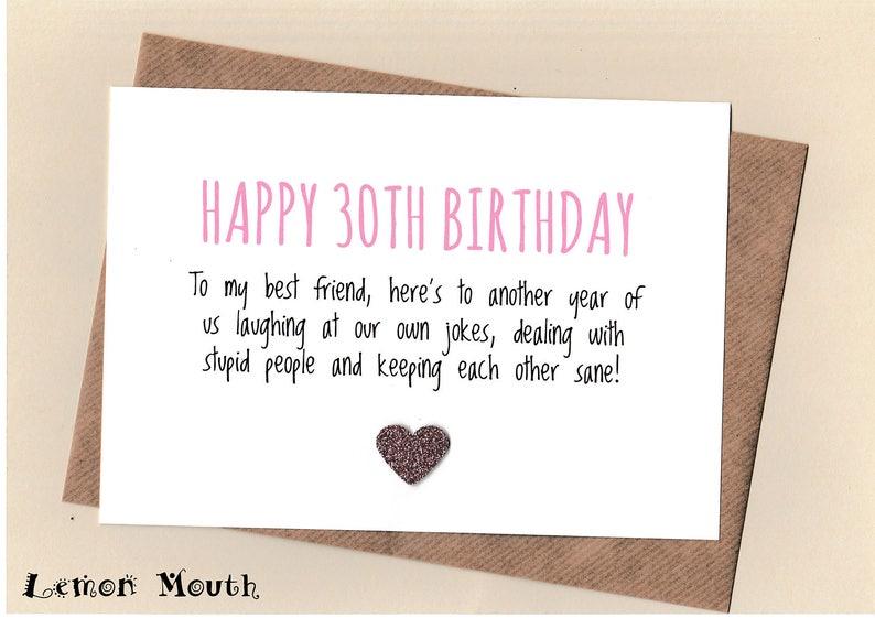 Funny 30th Birthday Card boy male son daughter humorous thirty thirtieth cheeky