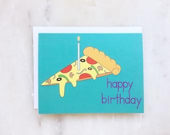 Pizza - carte de Pizza, Pizza d'anniversaire, carte d'anniversaire drôle drôle alimentaire carte, nourriture drôle d'anniversaire