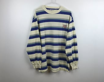 Details about Vintage Guess Jeans USA Striped T Shirt Long Sleeve Sz 12 Youth Large Boys