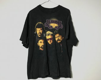 d29aeb55d7 1990s Vintage Alabama 1992 Band Graphic Tee / Band Tour T-Shirt 90s Hip Hop  Clothing Retro Throwback Streetwear - FREE SHIPPING