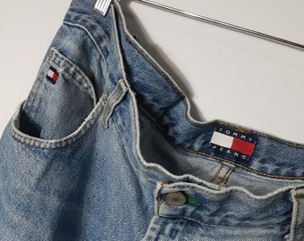 554b41aa6e0 1990s Vintage Tommy Hilfiger Jeans / Tommy Jeans Denim Pants - 80s / 90s  Hip Hop Clothing - Retro Throwback Streetwear - FREE SHIPPING