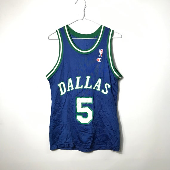 new product ad974 2390c Vintage 90s Champion - DALLAS MAVERICKS - #5 KIDD Basketball Jersey | Med -  90s Retro Throwback - Free Shipping