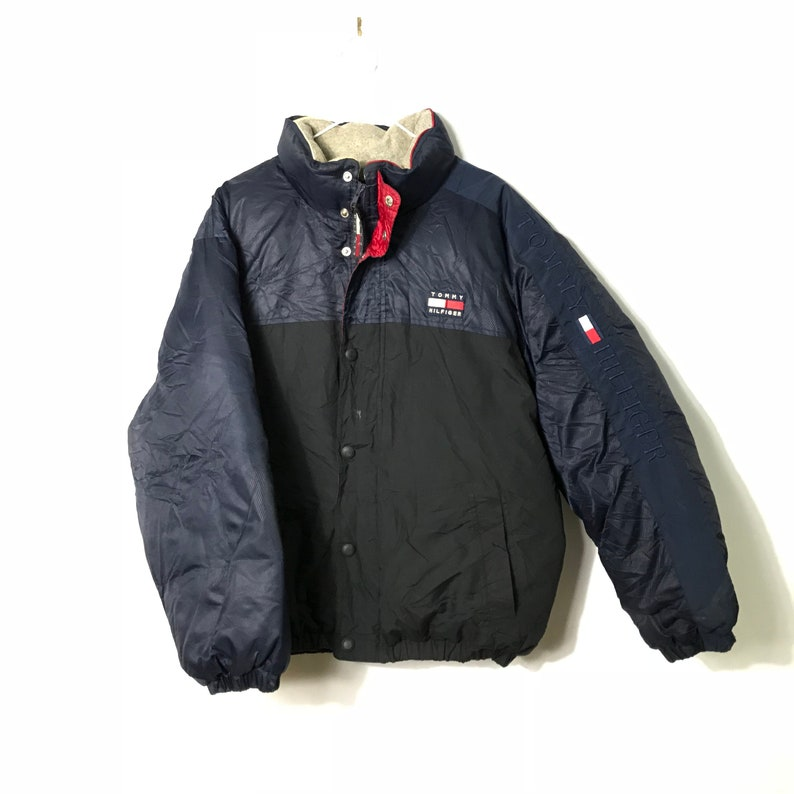 81a332eb106f Vintage 90s Tommy Hilfiger Blue Black Winter Goose