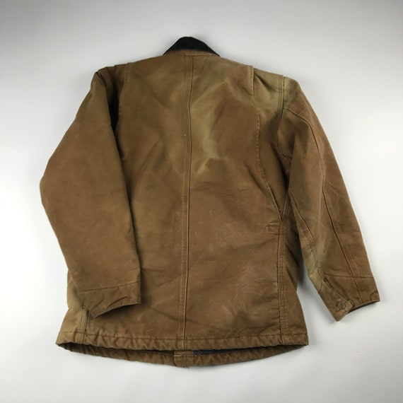 Vintage Carhartt Faded Brown Chore Jacket   Size … - image 8