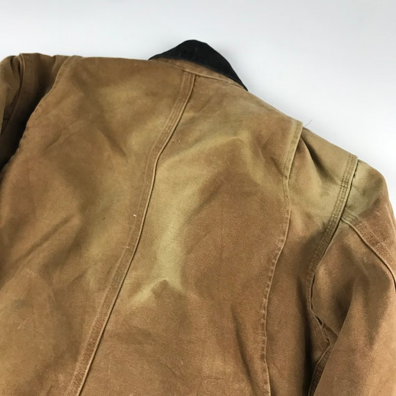 Vintage Carhartt Faded Brown Chore Jacket   Size … - image 9