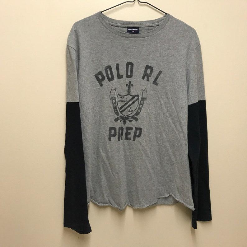 0290cd86 Vintage Ralph Lauren Polo Sport POLO RL Grey Long Sleeve | Etsy