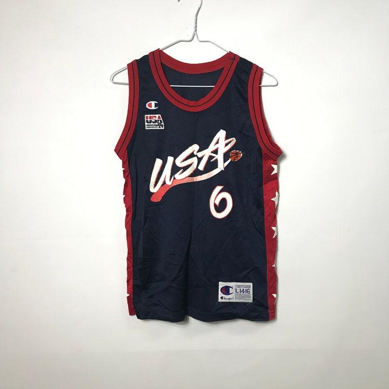 c91f8023938 champion team usa jersey Vintage 90s Champion Team USA 6 Hardaway Basketball