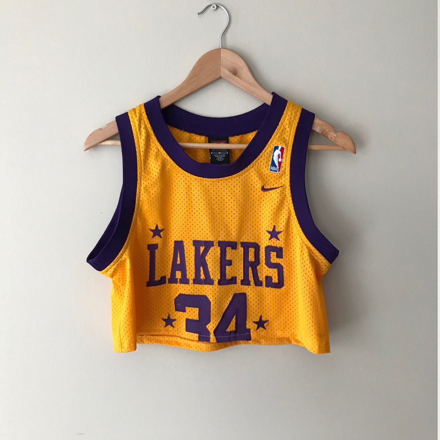 lowest price 3ea5d 7874d Reworked/Cropped - LA Lakers - Retro Basketball Jersey ...