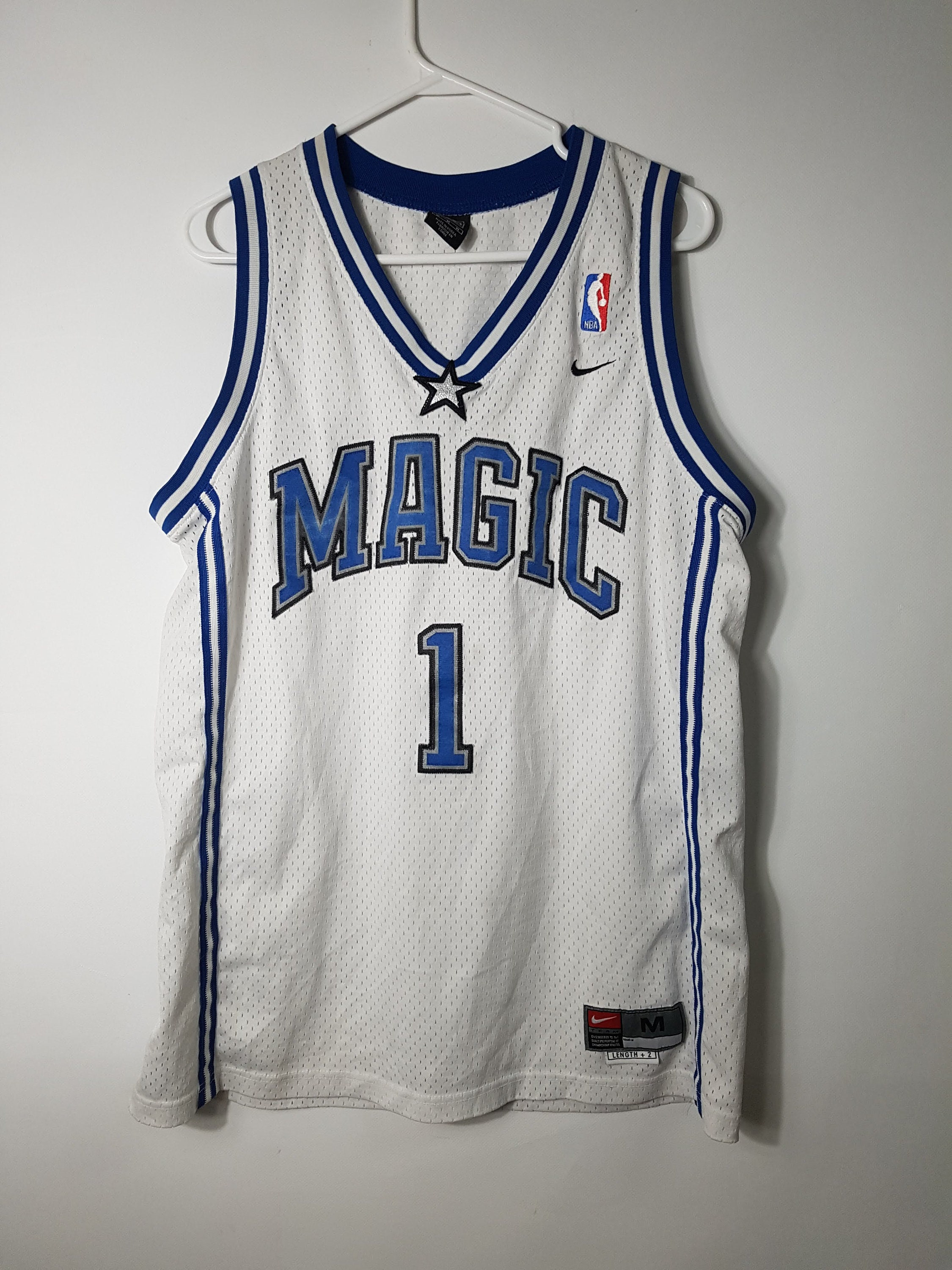 best service fe8ff 4107c 1990s Vintage Tracy Mcgrady Orlando Magic Jersey / Champion ...