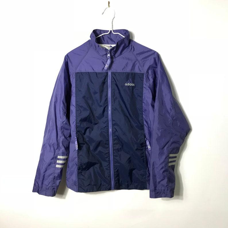 cf3a24b7ea5a Vintage 90s ADIDAS Purple WindBreaker Light Track Jacket