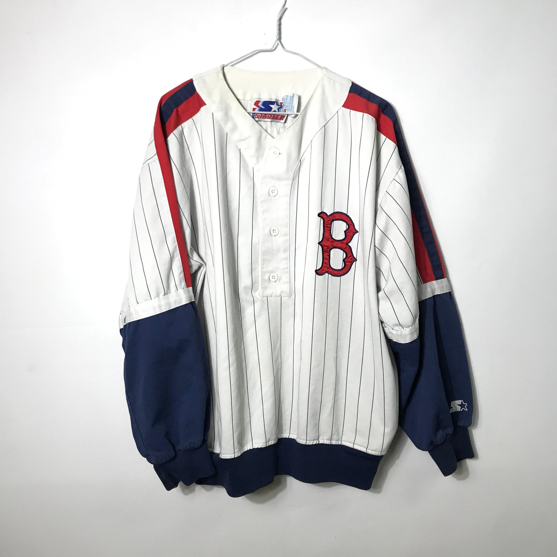 10cf67338 Vintage 90s Starter - Boston RED SOX - Pinstripe Retro Crewneck Sweater