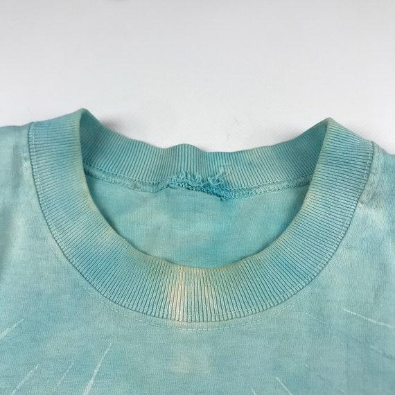 Vintage 1990 Tie Dye Marina Liquid Blue T-shirt  … - image 4