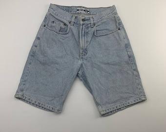 Vintage Gorp Denim Cargo Frayed Shorts   Size W29