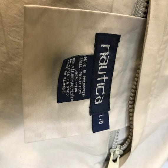NAUTICA Vintage Sport - réversible kaki - veste d'hiver - kaki polaire - grand bcb69e