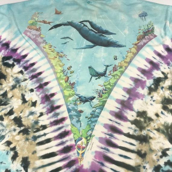 Vintage 1990 Tie Dye Marina Liquid Blue T-shirt  … - image 6