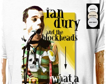 Vintage Ian Dury French Concert Poster A3 Print