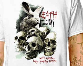 a71a48527 T-SHIRT: Monty Python Killer Rabbit / Men's & Women's Tees in 100% Cotton  (LazyCarrot) // holy grail bunny funny movie king arthur quest