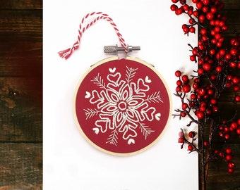 Full Embroidery Kit: Snowflake Christmas Decoration