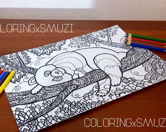 Zentangle Panda Etsy