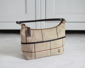 85e5acbbf526 Ralph Lauren Bag Vintage Women Plaid Handbag Beige Brown