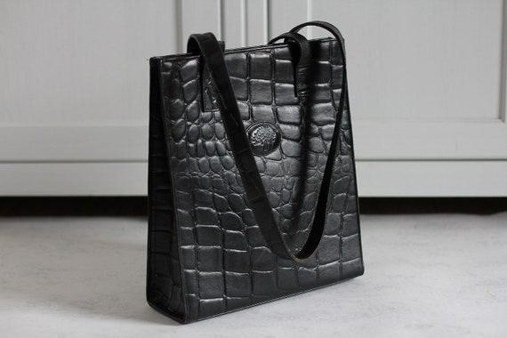 69920d004b3b MULBERRY vintage shoulderbag Retro black leather handbag for