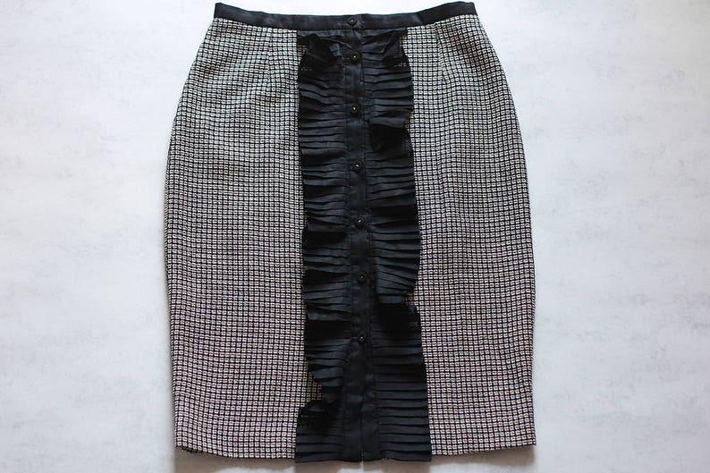 a2f729b6e4 FENDI Skirt Women Vintage Retro Black Beige Made in Italy | Etsy