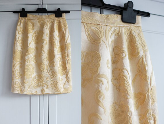 Vintage Louis Feraud Skirt Women Silk Wool Skirt Y