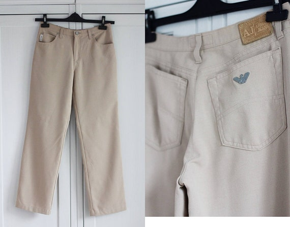 watch look out for huge discount ARMANI Jeans Vintage Women Pants Size W28 L28 28 x 28 Comfort Fit Armani  Jeans Made in Italy