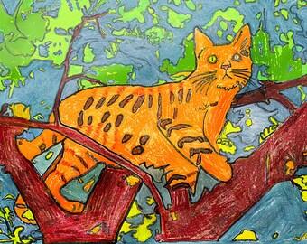 Cat in a Tree - Print