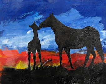 Mare and Colt - Print