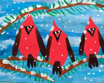 3 Cardinals - Print