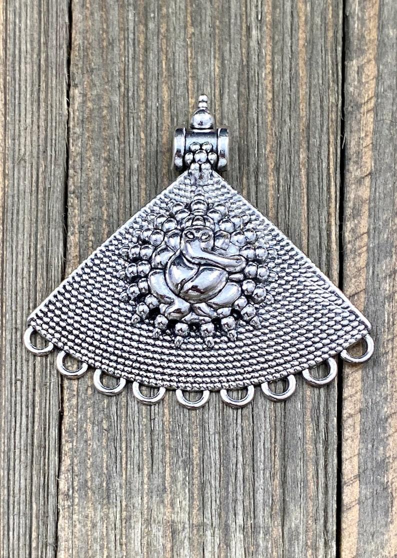 Elephant Ganesh Pendant Religious Sacred Vintage Style Antique Design Indian Tibetan Nepali Religious Yoga Mala Locket Necklace Jewelry Gift