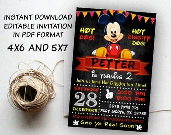 disney invitation etsy