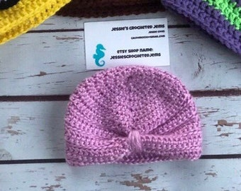 Crochet Baby turban - custom colors available! Great for newborn photos or  just a really cute accessoryfor your baby! 80082eb629a